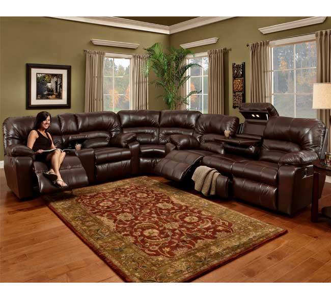 Dakota 596 Reclining Sectional - Java or Putty Bonded Leather & Dakota 596 Reclining Sectional - Java or Putty | Sofas and Sectionals islam-shia.org