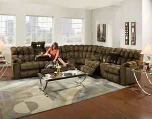 Brayden 440 Reclining Sectional in Umber : reclining sectional sofa - islam-shia.org