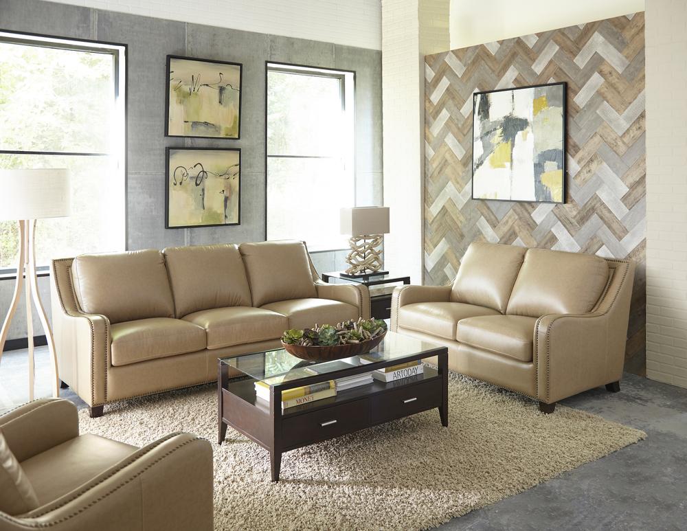 Denver 1636 Leather Sofa In Camel