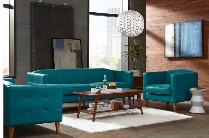 Miami 1638 Leather Sofa in Seafoam - IN STOCK | Sofas and ...