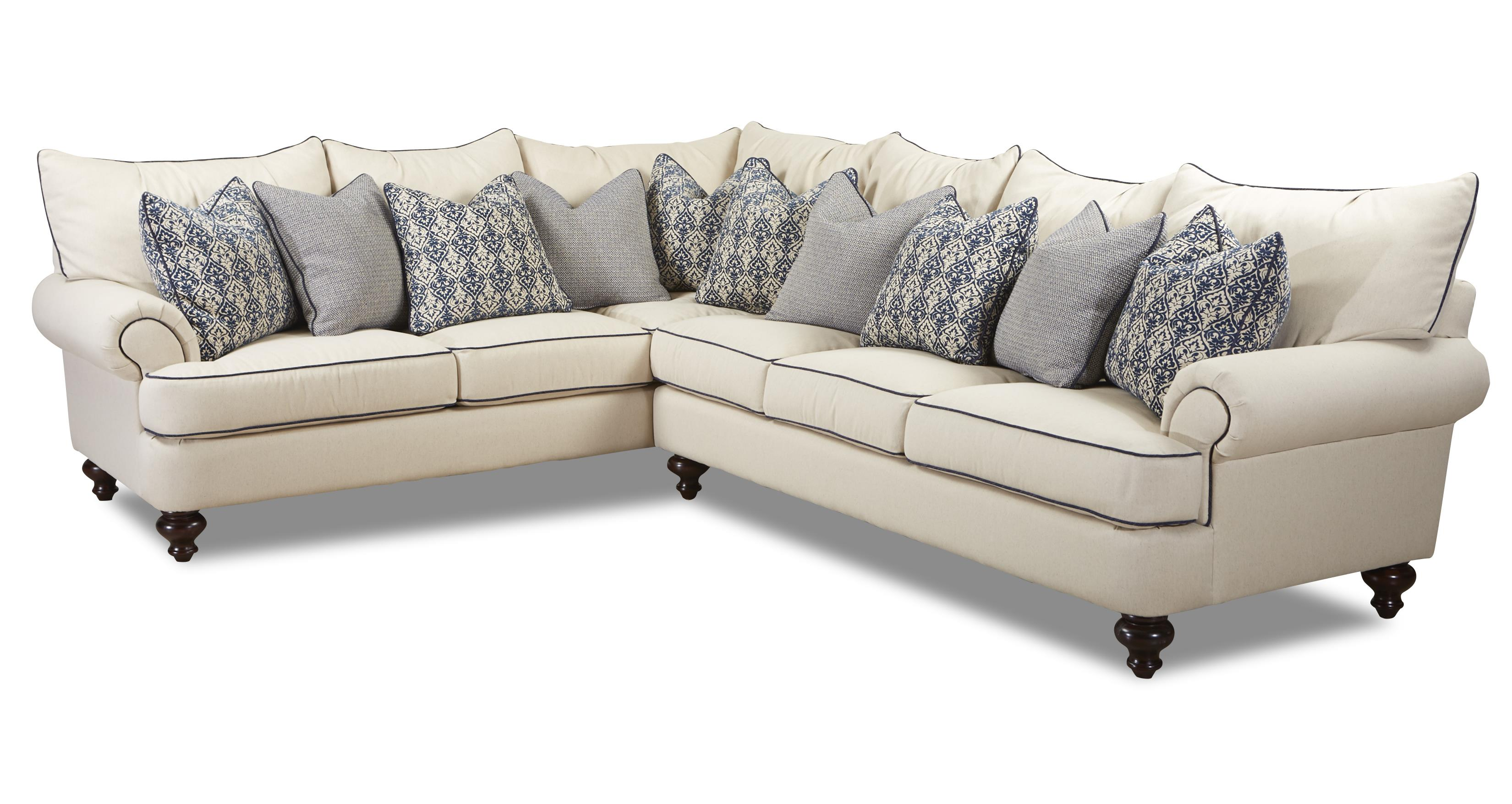 Ashworth D95200 Sectional - Hundreds of Fabrics and Colors. By Klaussner  sc 1 st  Sofas and Sectionals : klaussner sectional sofa - Sectionals, Sofas & Couches