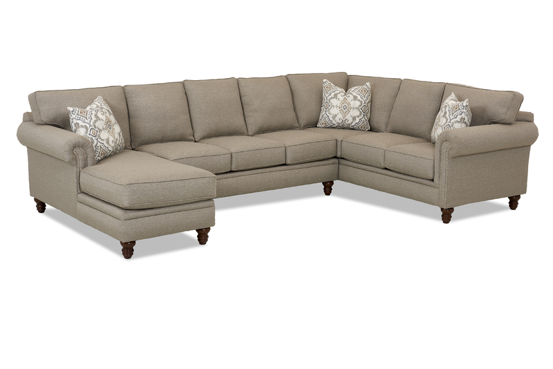 Fabulous Carter K94410 Sectional W Nail Head Sofas And Sectionals Andrewgaddart Wooden Chair Designs For Living Room Andrewgaddartcom