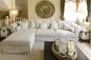 4 pc 136 inch bella extra long sectional in sand