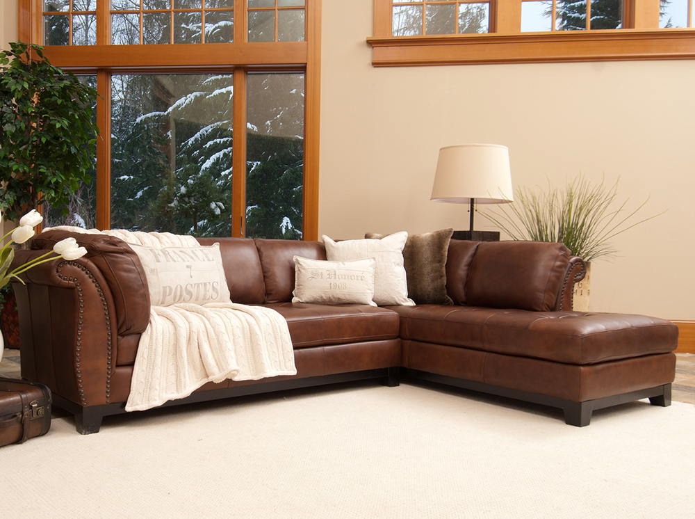 Amazing Corsario 2 Pc Top Grain Leather Sectional In Sofas And Pdpeps Interior Chair Design Pdpepsorg