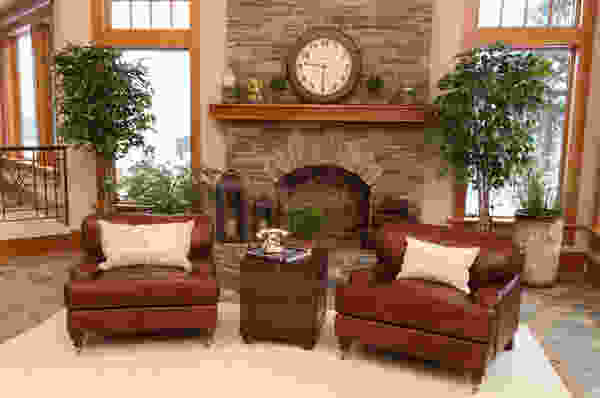 4 Piece Cambridge Top Grain Leather Living Room in Acorn