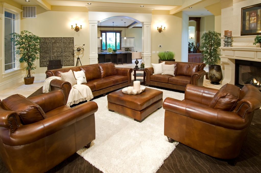 Paladia 5 Piece Top Grain Leather Collection In Sofas And