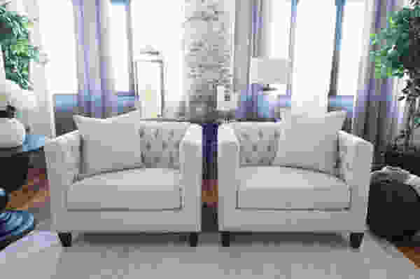 South Beach 4-Piece Fabric Sofa Collection in Seashell