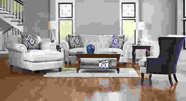 Flynn D90910 Sofa Collection w/ Nailheads - Hundreds of Fabrics and Colors