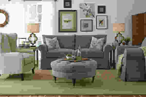 Jenny 16100 Slip Cover Sofa Collection w/ Down Blend Cushions - Hundreds of Fabrics and Colors