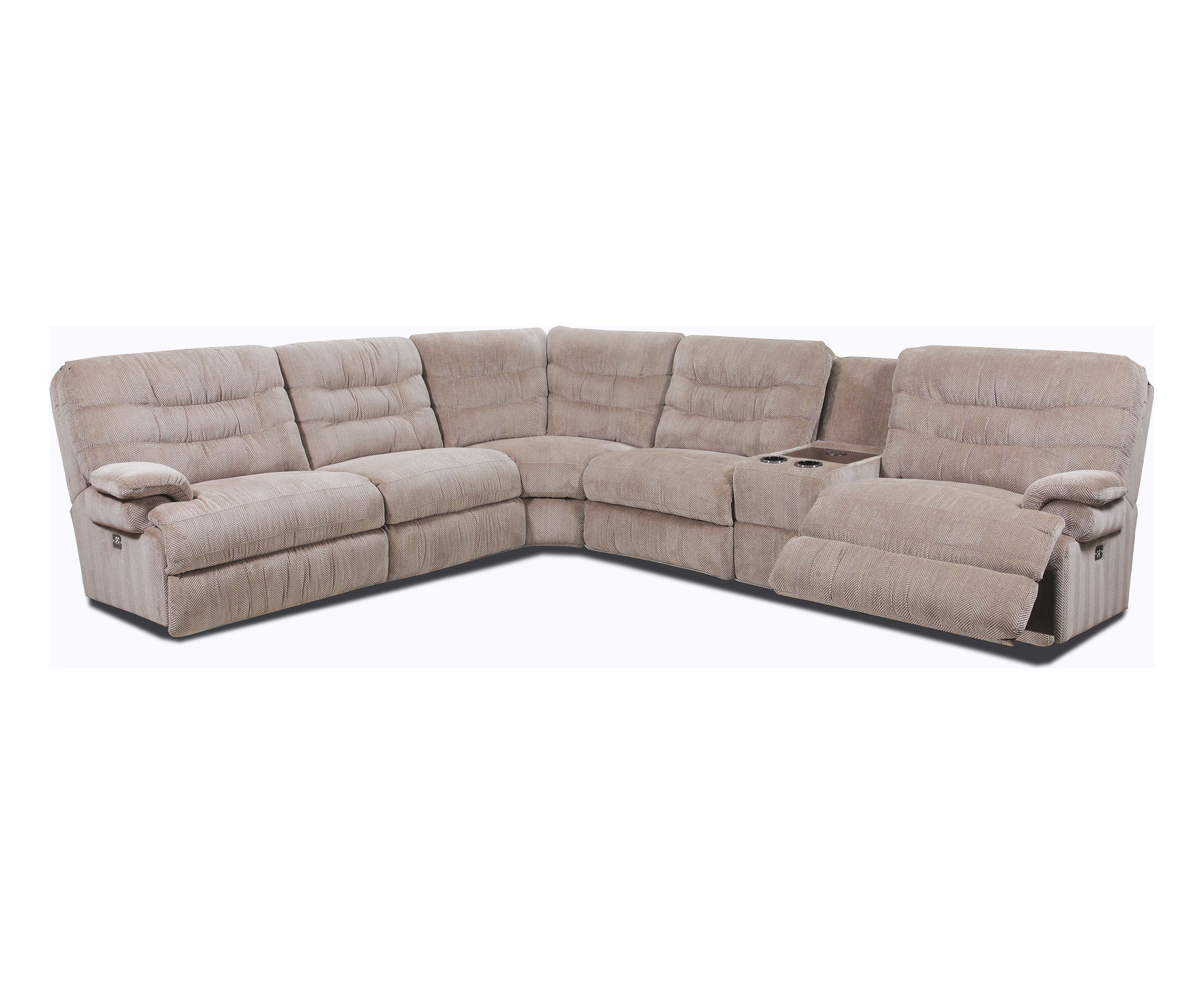 Elegant Peace 296 Reclining Sectional. By Lane