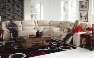 Carmine 415 Bonded Leather Touch Reclining Sectional