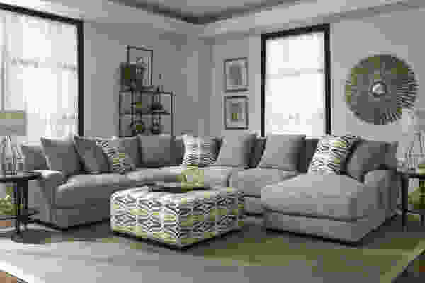 Barton 808 Sectional - Pillows Included