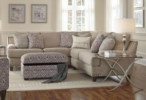 Anna 864 Sectional   Pillows Included. By Franklin