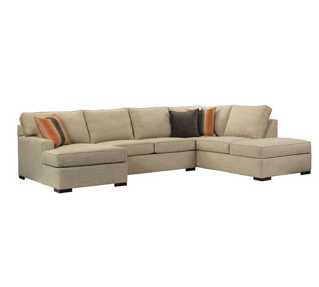 Broyhill sectional sofas with chaise rs gold sofa for Broyhill chaise