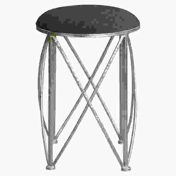 Uttermost Delaine Silver Small Stool