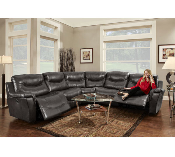 Franklin 413 Milano Sectional 61 01 Black Sofas And