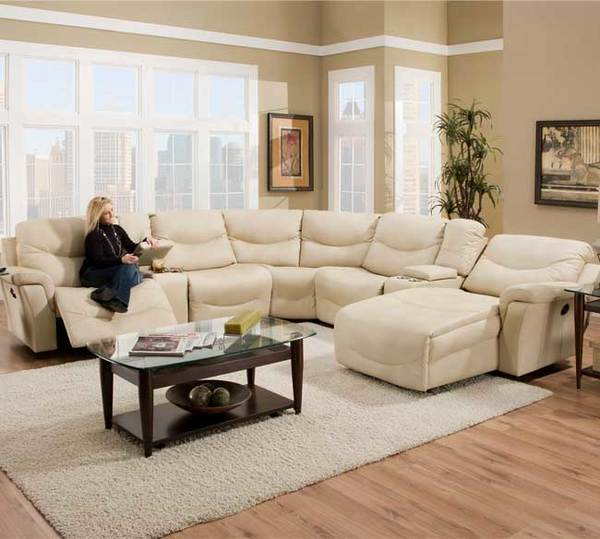 New Interior Best Of White Leather Reclining Sofa Ideas: Franklin 413 Milano Sectional 7240-25 Natural