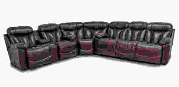 Wescott 445 LEATHER Reclining Sectional