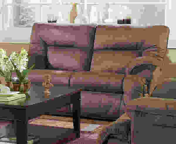 Tristan Reclining Sofa Collection in Mink