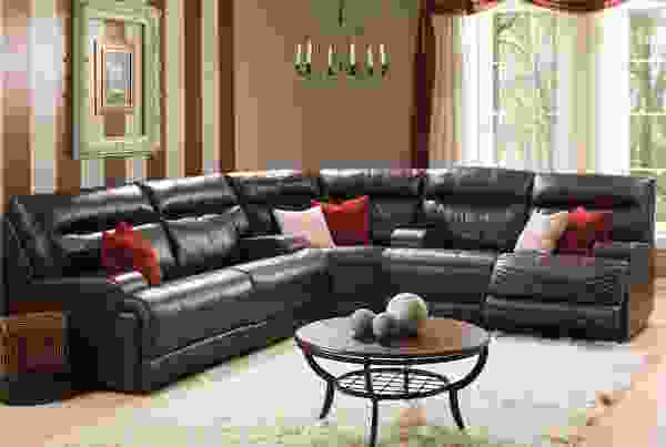 Lincoln 41027 Reclining Sectional - 450 Leathers and Fabrics