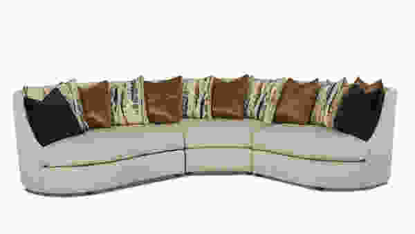 Euclid D96900 Conversation Sectional - Hundreds of Fabrics and Colors