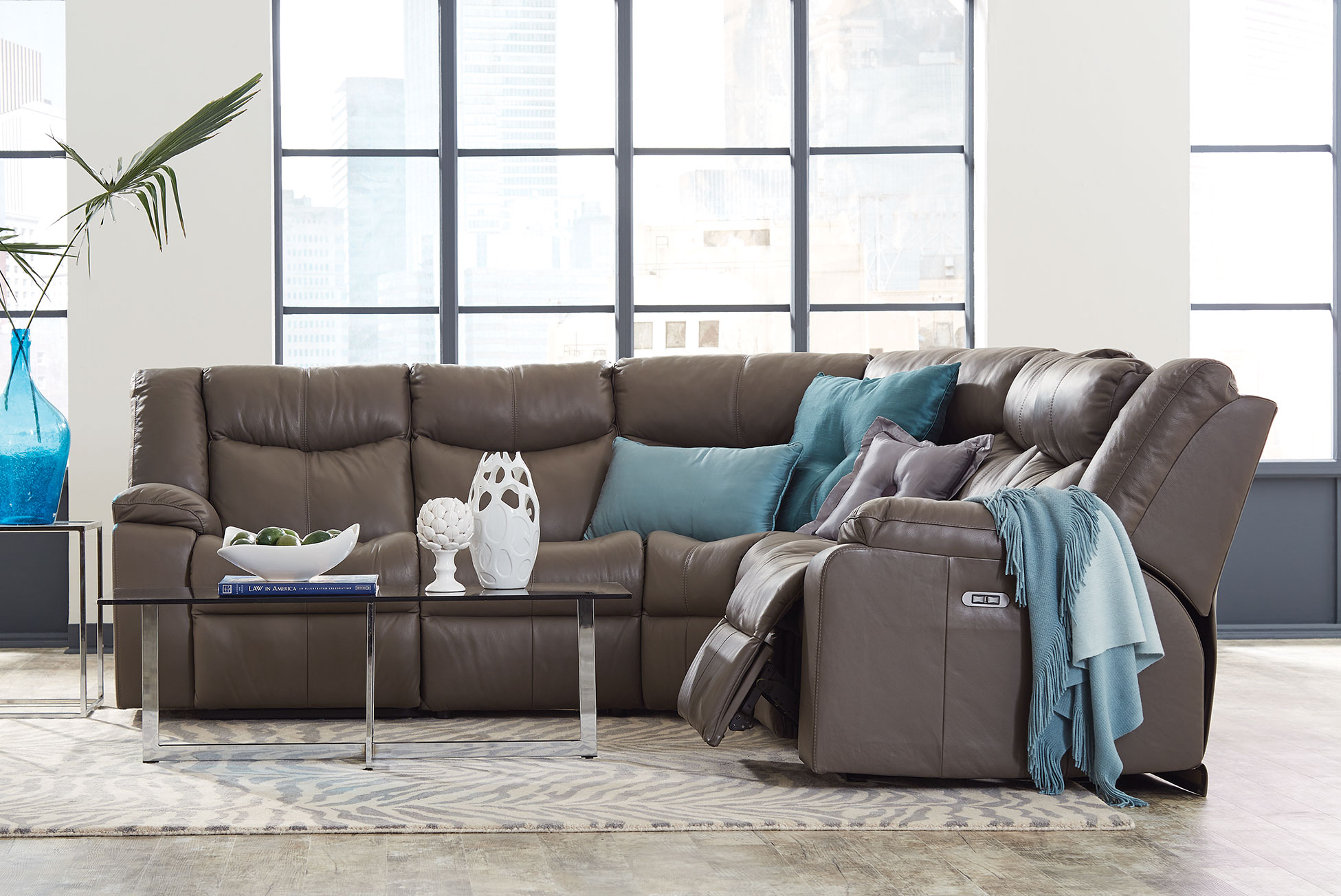 Delta POWER HEADREST Reclining Sectional