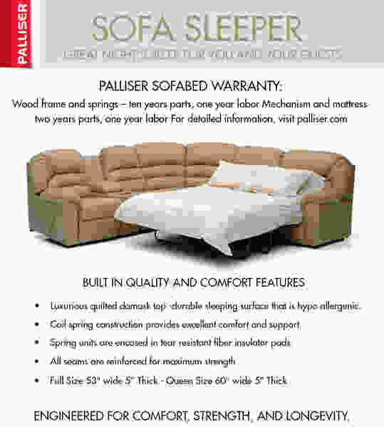 Corissa 77500 - 70500 SLEEPER Sectional - 450 Leathers and Fabrics