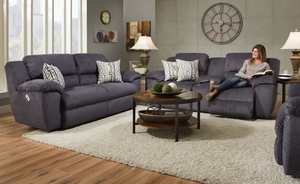 Presley 572 Reclining Sectional In Chocolate Sofas And