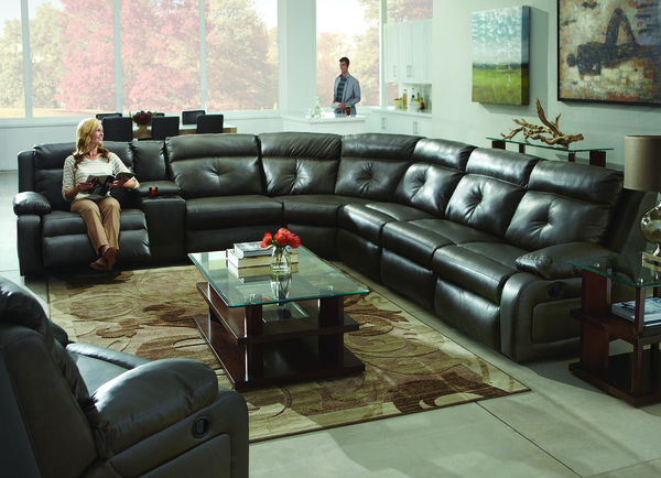 Dash 574 Reclining Sectional Choice of Colors