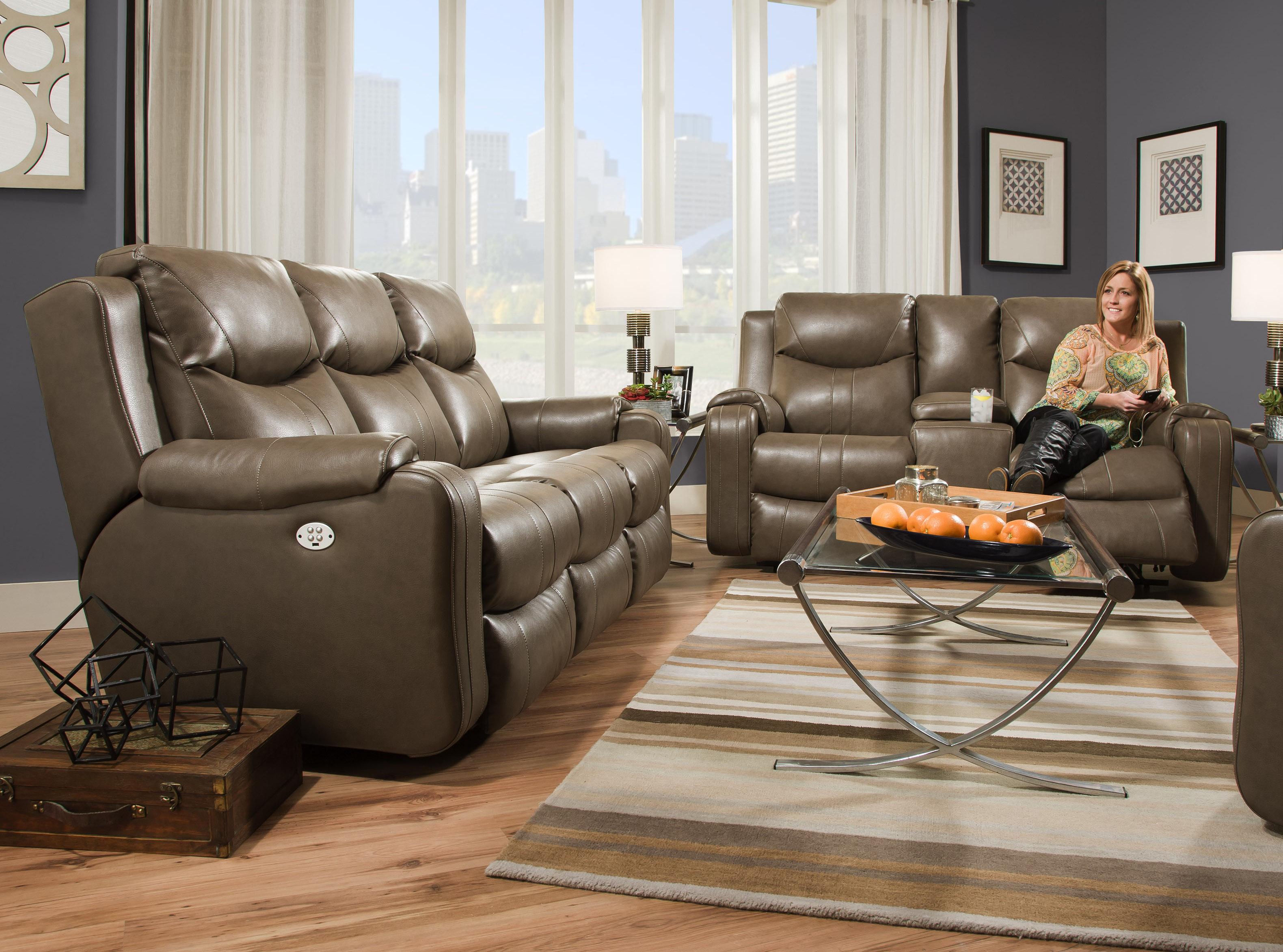 Marvel 881P POWER HEADREST Reclining Sofa