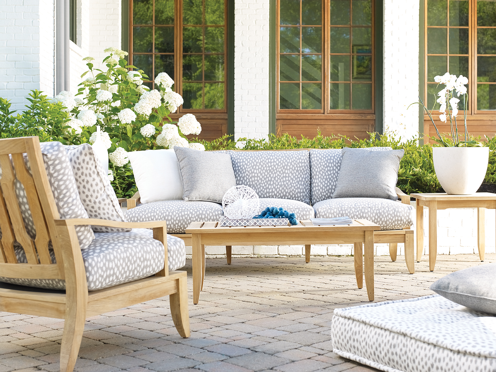 Aura Outdoor Teak Living Room Collection | Sofas and Sectionals