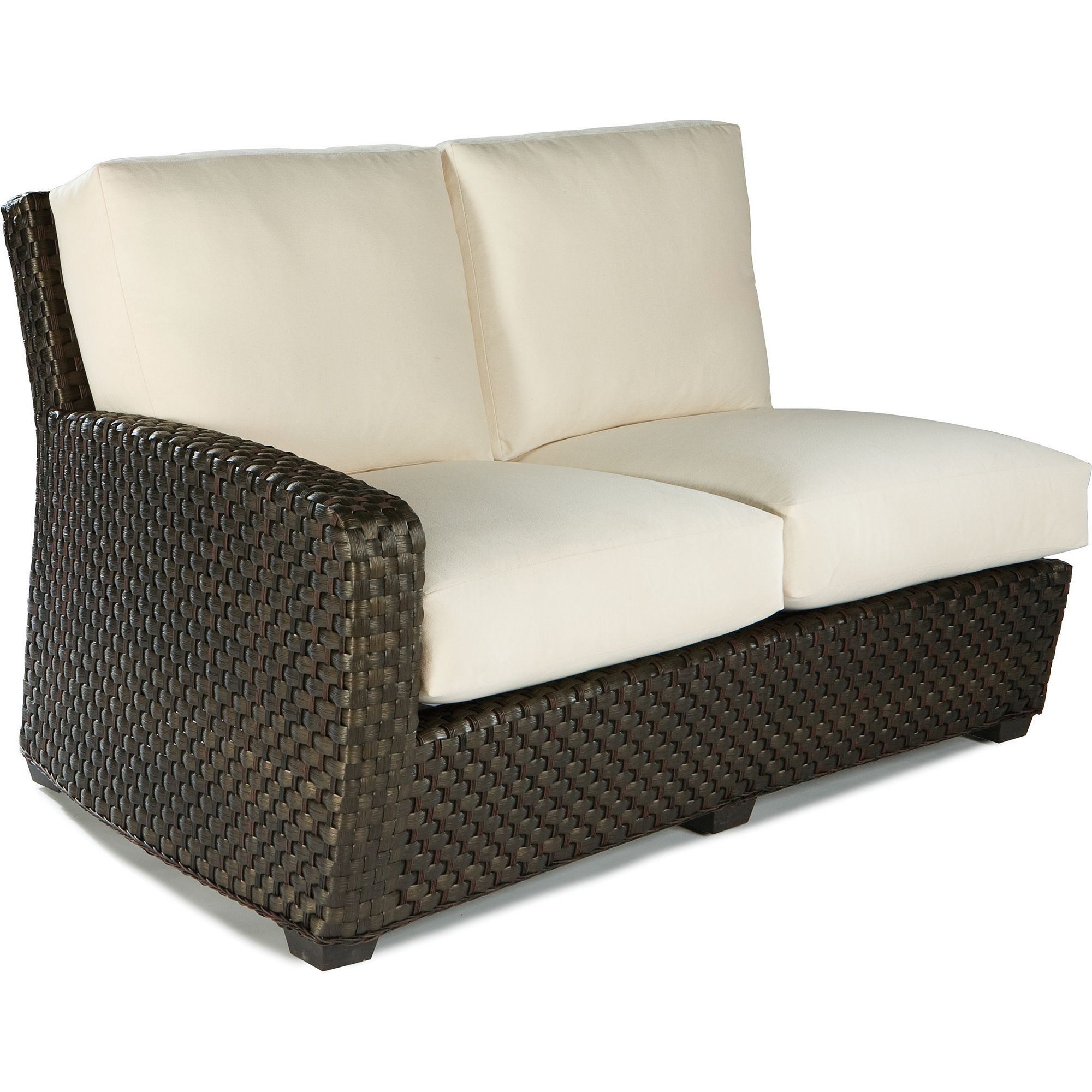 Admirable Leeward Outdoor Wicker Lf One Arm Loveseat Sofas And Pabps2019 Chair Design Images Pabps2019Com