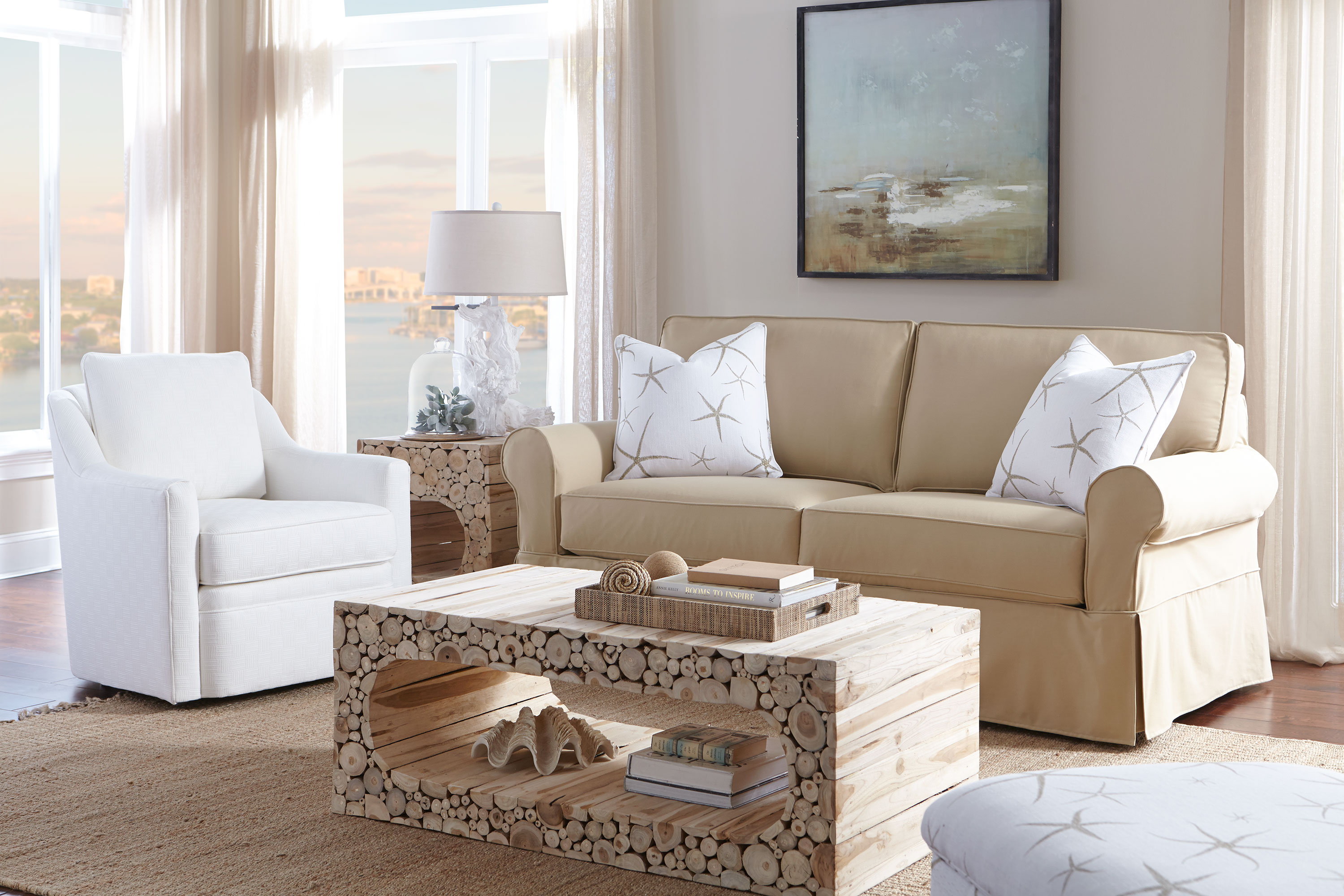 Nantucket A910 Slipcover Sofa 350 Fabrics and