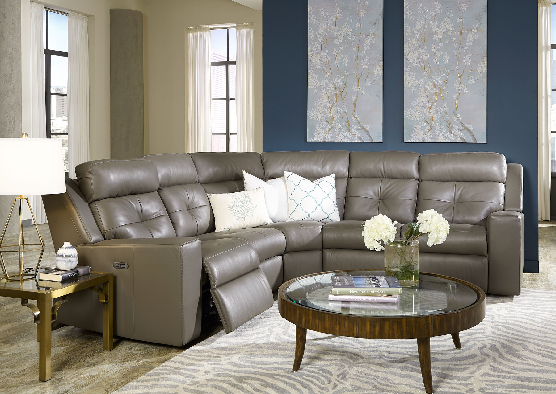 Grove Power Reclining Sectional w Power