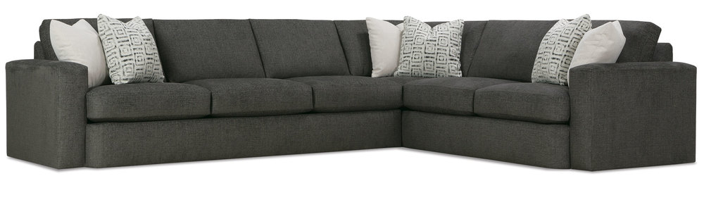 ... Family Room, Or Other Seating Area With The Help Of The Spacious And  Accommodating Rowe Lauren Sectional Sofa. This Comfortable Sectional Sofa  ...