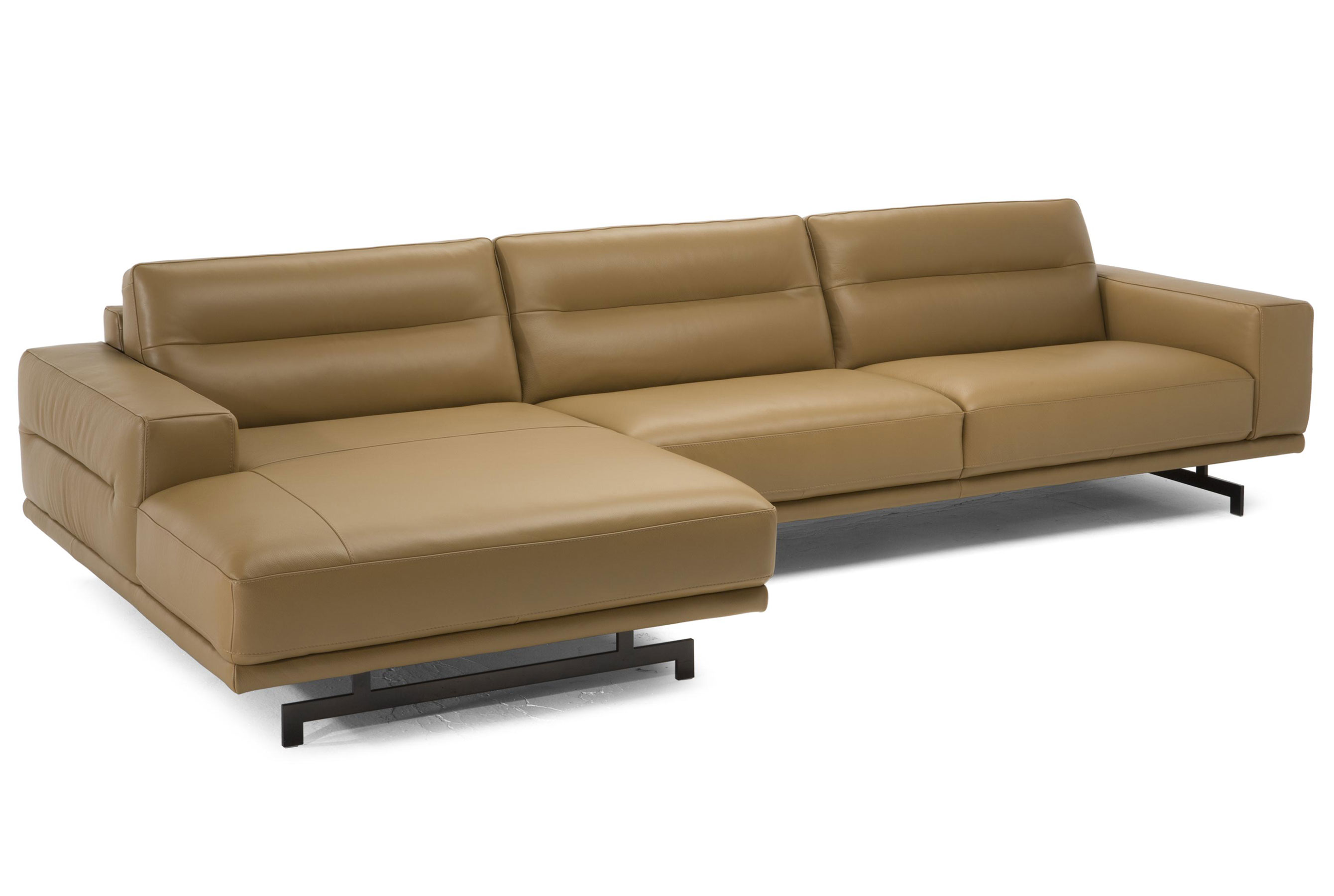 Audacia C018 **100% Top Grain Leather** Sectional (Chaise Left Or Right  Side). By Natuzzi Editions