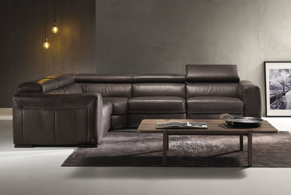 Forza B790 **100% Top Grain Leather** Sectional