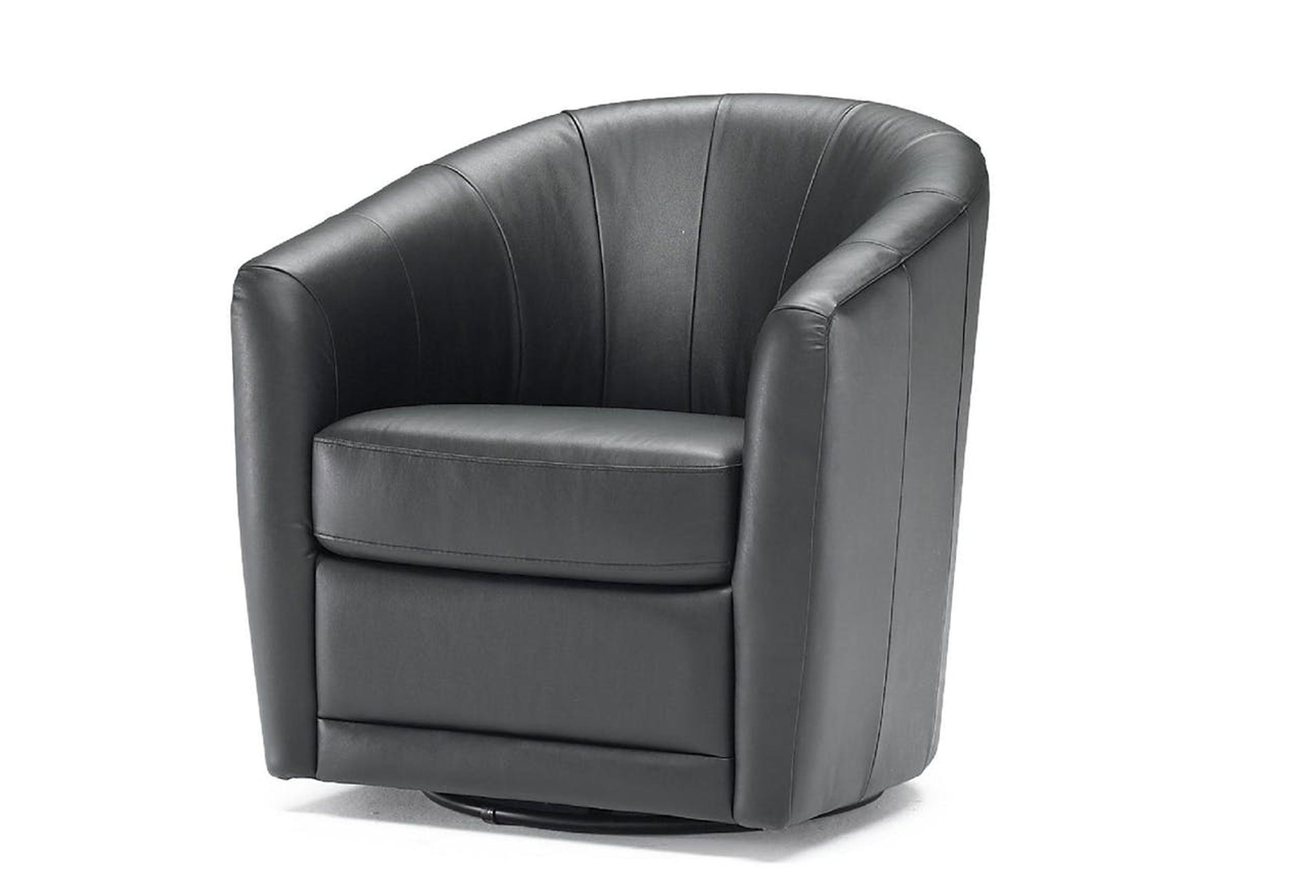 Picture of: Giada B596 Top Grain Leather Barrel Chair Made Sofas And Sectionals