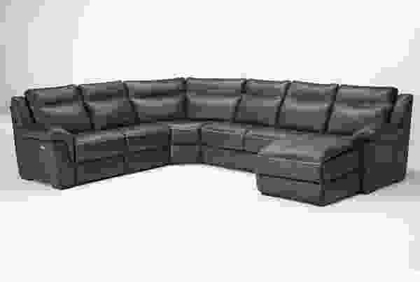 Gaetano B865 **100% Top Grain Leather** Reclining Sectional