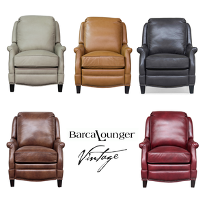 Elegant Ashebrooke Vintage Leather Recliner   IN STOCK FAST FREE SHIPPING. By  Barcalounger