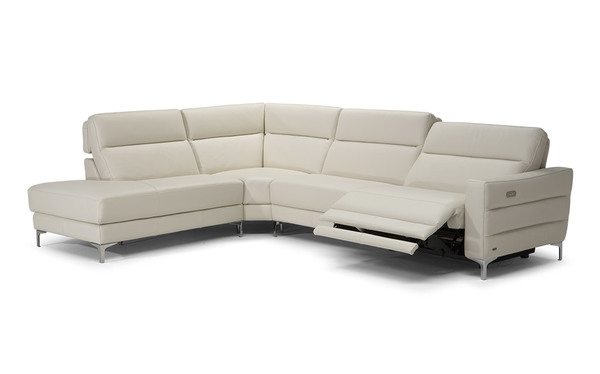 Stima B940 **100% Top Grain Leather** Reclining Sectional (Includes Power