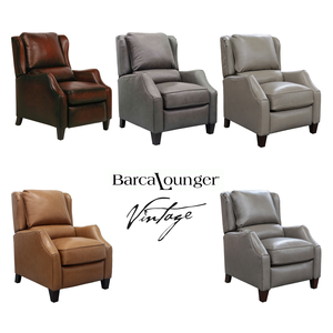 Berkeley Vintage Leather Recliner   IN STOCK FAST FREE SHIPPING. By  Barcalounger