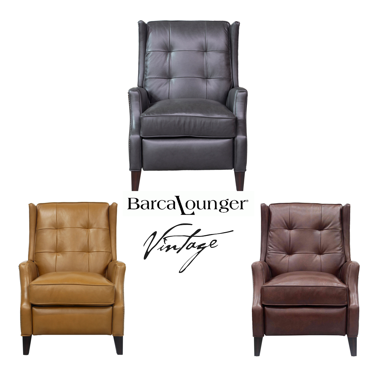 Lincoln Vintage Leather Recliner - IN STOCK | Sofas and Sectionals