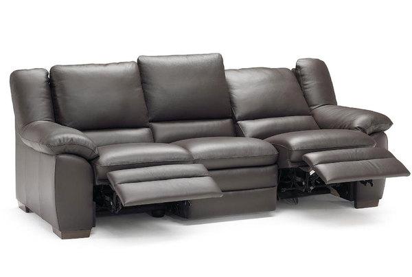 Prudenza A450 **100% Top Grain Leather** Reclining Sofa