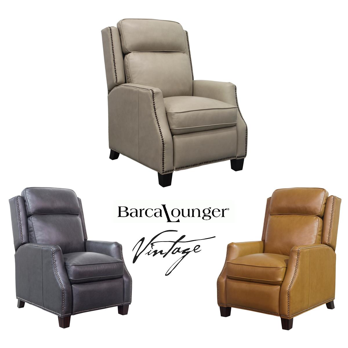 Van Buren Vintage Leather Recliner In Stock Sofas And