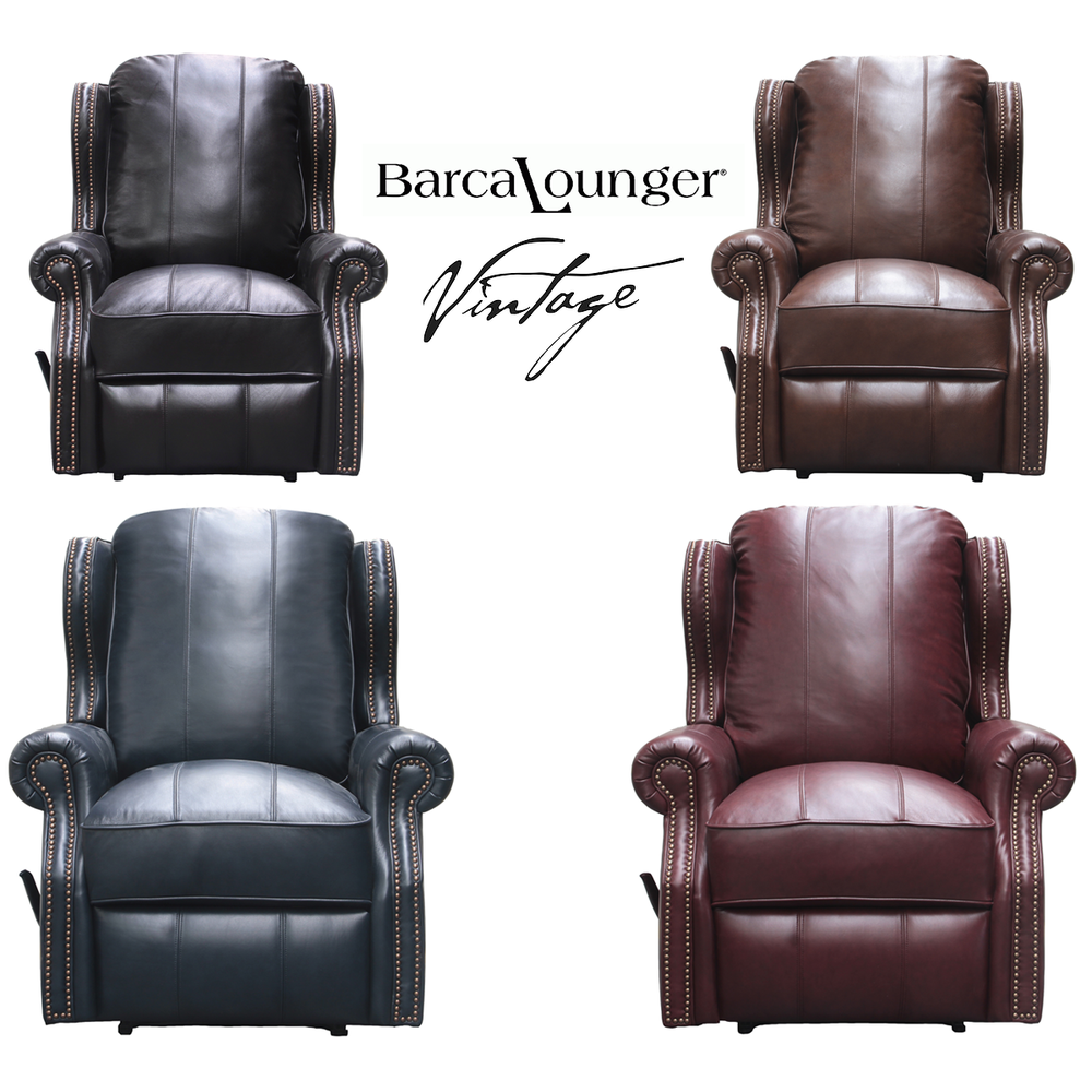 Bristol Vintage Leather Recliner In