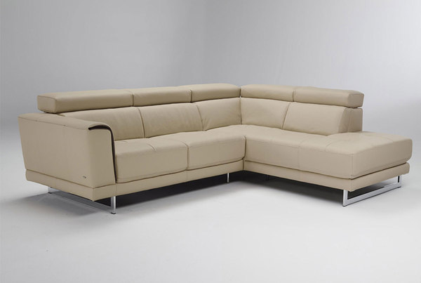Guido B887 **100% Top Grain Leather** Sectional