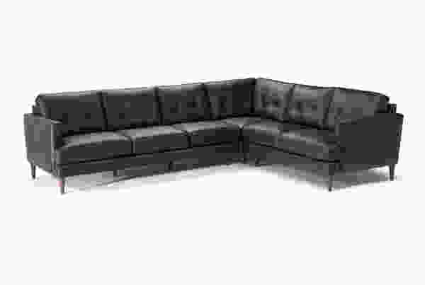 Amilcare B984 **100% Top Grain Leather** Sectional