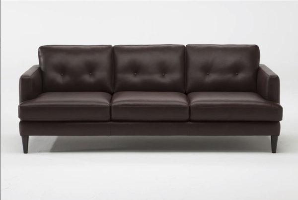 100 Percent Leather Sofa Dark Grey Italian Leather