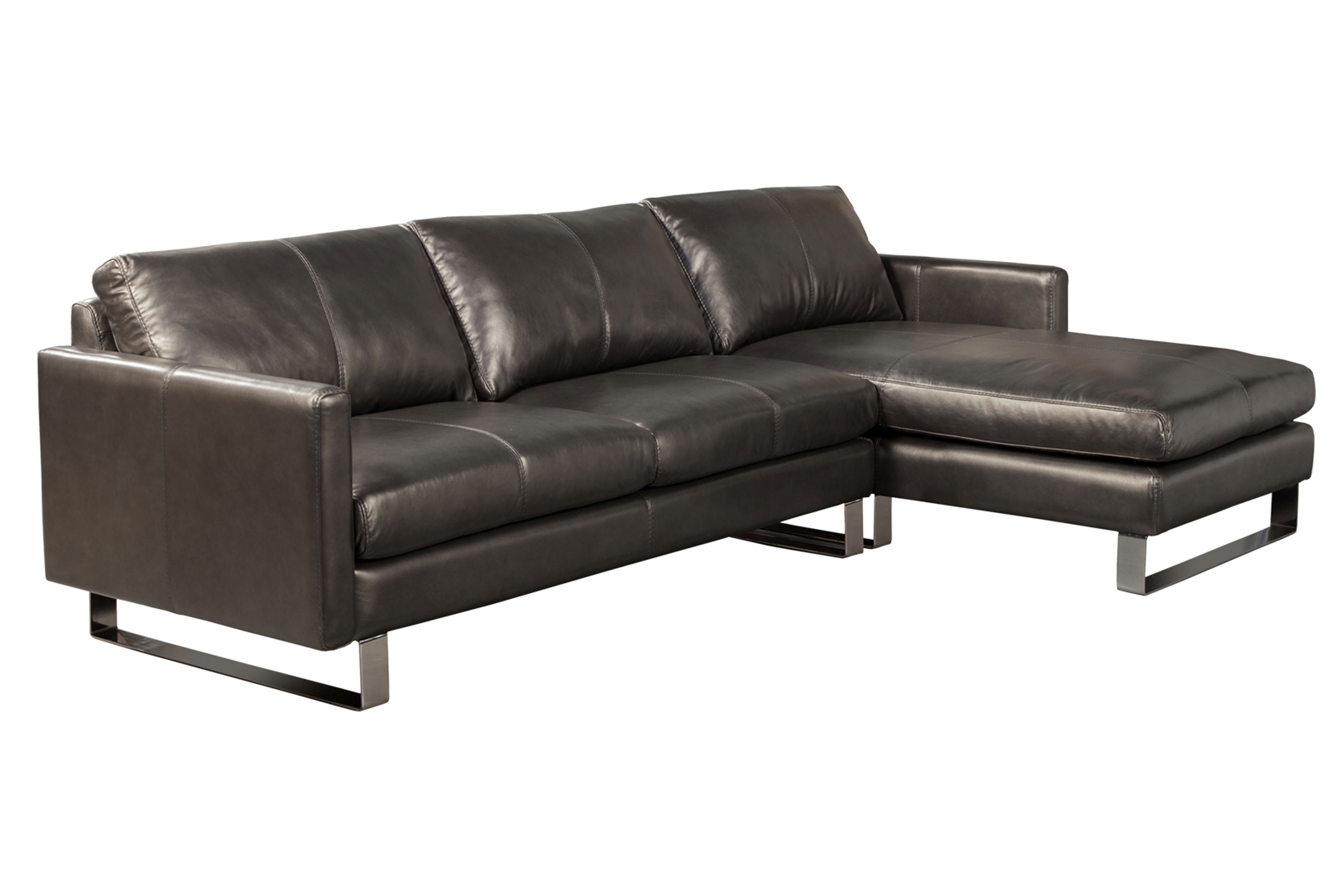 Remarkable Concord Stationary Sectional All Leather Sofas And Ocoug Best Dining Table And Chair Ideas Images Ocougorg